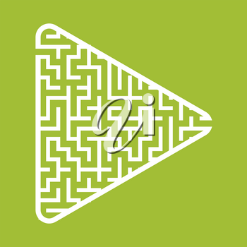 Labyrinth in the shape of an arrow. Game for kids. Puzzle for children. Find the right path. Maze conundrum.